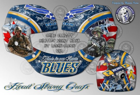 Brian Elliott Veteran's Day Mask Design