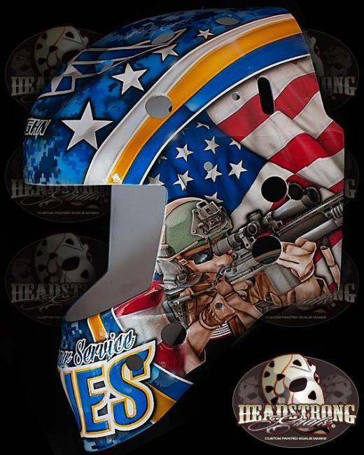Brian Elliott Veteran's Day Mask America Side