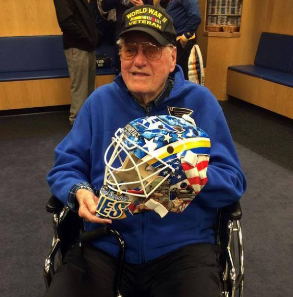 Tech Sergeant Charles Rohde Delivers Brian Elliott's Veteran's Day Mask