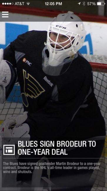 Blues sign Brodeur