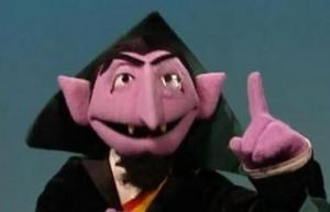 Even the count can only count to 40 so many times before getting frustrated.