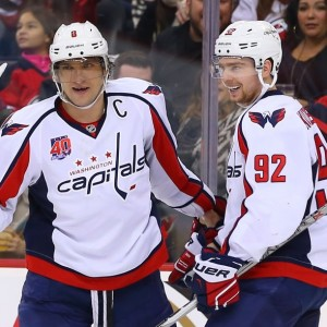 Kuznetsov and Ovechkin worked well together on the top line in preseason. (Ed Mulholland-USA TODAY Sports)