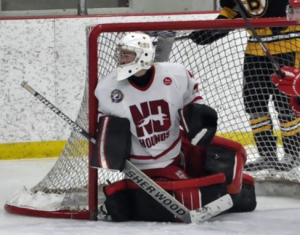 Goaltender Benjamin Patt of the Notre Dame Hounds