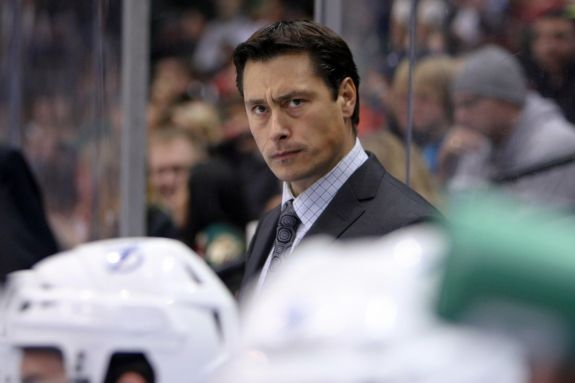 SC Bern bench boss Guy Boucher (Brace Hemmelgarn-USA TODAY Sports)