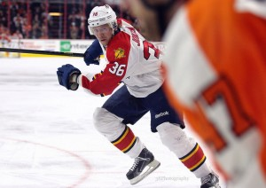 "32-year-old winger Jussi Jokinen is on of Florida's ""wily"" vets. (facebook.com/38Photography/Amy Irvin/ The Hockey Writers)"
