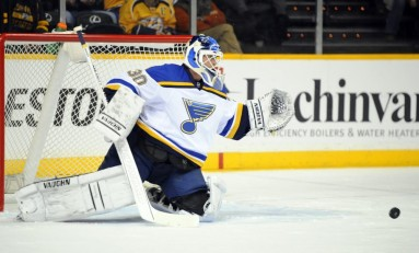 Report on This: Martin Brodeur is a Blues Fan's Dream Come True