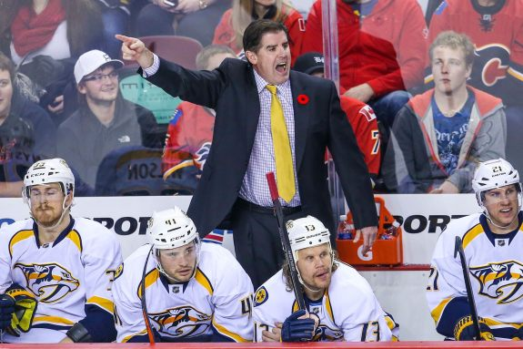 Peter Laviolette of the Nashville Predators