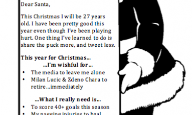 Dear Santa…From the Toronto Maple Leafs