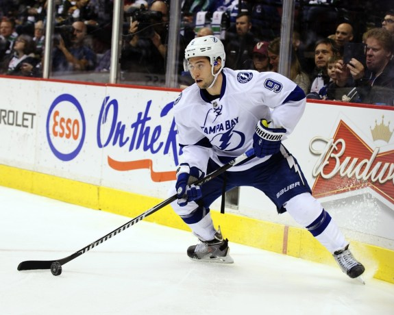 Tyler Johnson is quickly emerging as one of the NHL's top young players (Anne-Marie Sorvin-USA TODAY Sports)