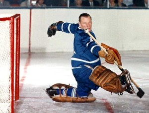 Johnny Bower had a big game for the Leafs against the Hawks.