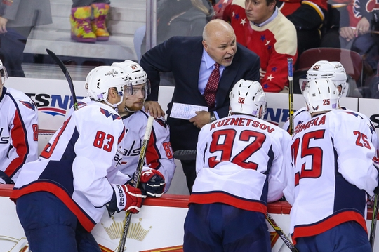 Washington Capitals head coach Barry Trotz.