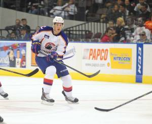 Andrew O'Brien honing his craft in the AHL with The Norfolk Admirals. Photo Credit: (John Wright/Norfolk Admirals)