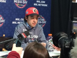 "johnny Gaudreau one of four designated ""Rookies"" competing this year. (Credit: Alex Busch/Staff)"