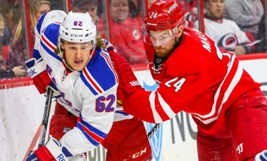 Hurricanes Killing Penalties Losing Games; 1-4 to Rangers