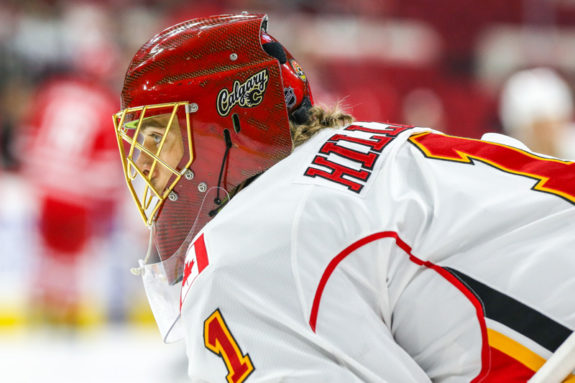 Calgary Flames goalie Jonas Hiller (Photo by Andy Martin Jr)