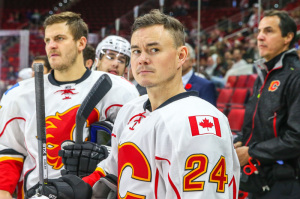 Could Calgary look to capitalize on Jiri Hudler's breakout season? (Photo by Andy Martin Jr)