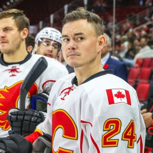 Jiri Hudler (right) has seven goals and 21 assists through 44 games this season. (Photo by Andy Martin Jr.)