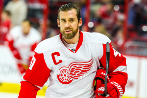 Henrik Zetterberg has the 11th spot, but is still nearly a point per game at his age.  (Photo Credit: Andy Martin Jr)