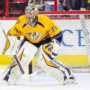 Nashville Predators goalie Pekka Rinne  (Photo Credit: Andy Martin Jr)