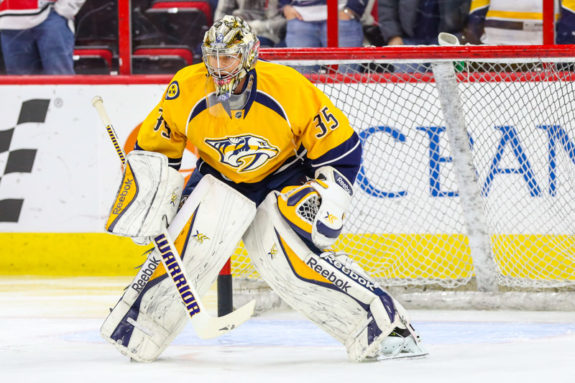 Nashville Predators goalie Pekka Rinne  (Photo Credit: Andy Martin Jr)
