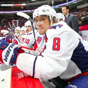 Alex Ovechkin took over Saturday's game in the third period. - Photo By Andy Martin Jr