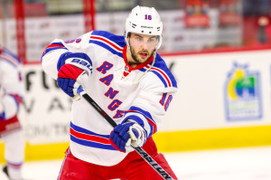 Derick Brassard is second on the Rangers in scoring with 33 points.  (Photo Credit: Andy Martin Jr)