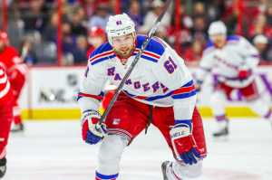 (Photo Credit: Andy Martin Jr) Rick Nash had a chip on his shoulder this season, coming off his disappointing playoff performance last spring. He bounced back by scoring a career-high 42 goals.