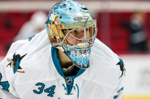 San Jose Sharks goalie Troy Grosenick (Photo Credit: Andy Martin Jr)