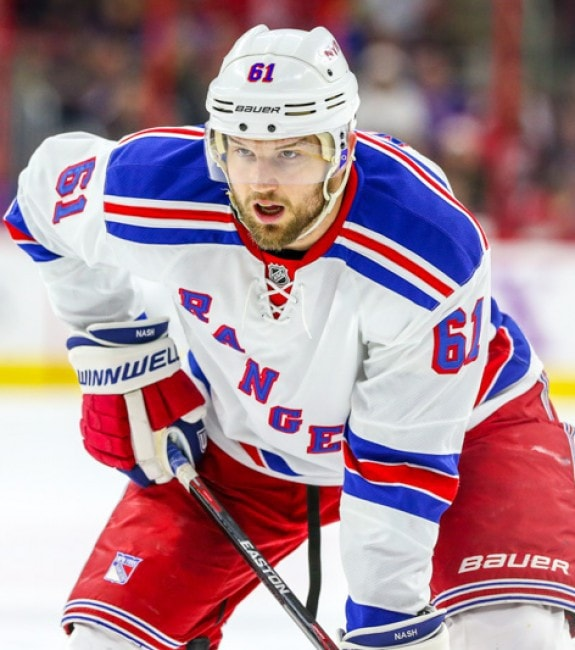 (Andy Martin Jr./THW) Rick Nash isn't a centre, but he is a top-line player, a proven 20-plus goal-scorer, and is also younger than the Sedins, so the Canucks could have some interest if the Rangers are pursuing the twins.