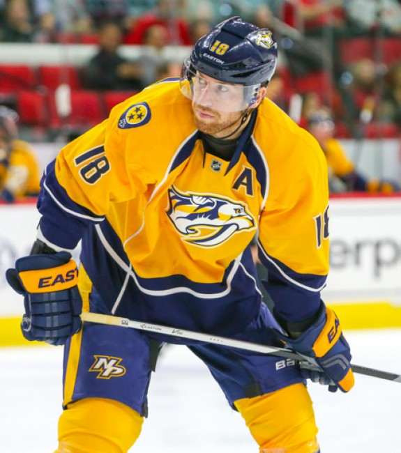 (Photo Credit: Andy Martin Jr.) Nashville Predators forward James Neal is the kind of sniper that Kyle should be targeting in the middle rounds.