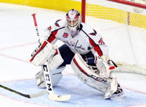 Holtby has made the third most saves this season and has been a rock for the Caps.  (Amy Irvin / The Hockey Writers)