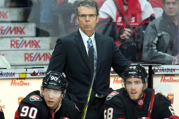 Ottawa Senators head coach Dave Cameron had some controversial words on Wednesday night, but avoided punishment for them (Marc DesRosiers-USA TODAY Sports)