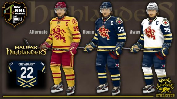 1475290b9bd Halifax Highlanders jerseys [photo: sparky chewbarky]