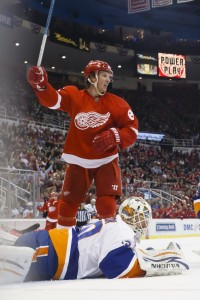 Justin Abdelkader of the Detroit Red Wings