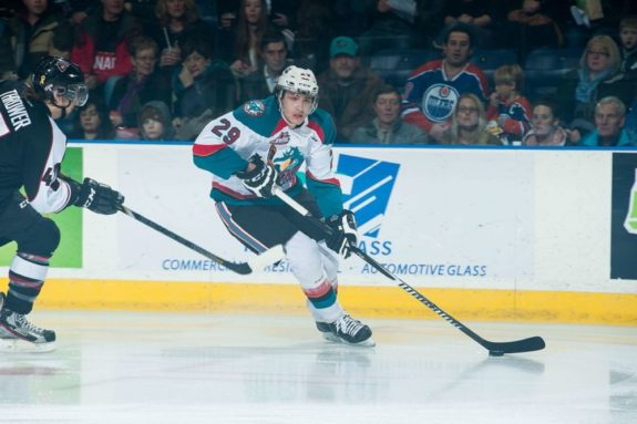 (Marissa Baecker/www.shootthebreeze.ca) Leon Draisaitl has been a dominant force since joining the Kelowna Rockets and has taken his game to another level during the WHL playoffs with 21 points in 15 games thus far.