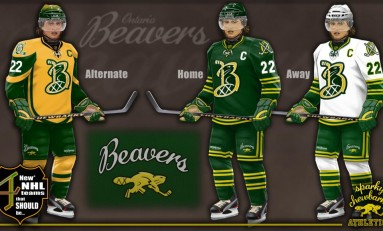 4 Concept Jerseys for NHL Expansion Teams
