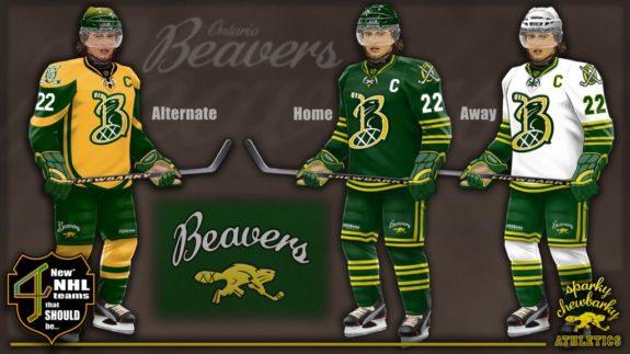 Ontario Beavers jerseys [photo: sparky chewbarky]