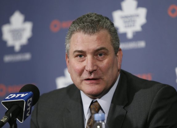 The Maple Leafs have won just one road game since Peter Horachek took over in early 2015. (John E. Sokolowski-USA TODAY Sports)
