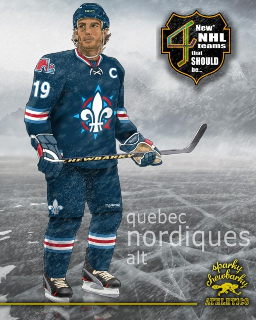 Quebec Nordiques alternate jersey [photo: sparky chewbarky]
