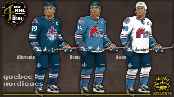 87917ea746d Quebec Nordiques jerseys [photo: sparky chewbarky]