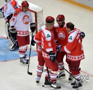 Russian Hockey Legends in 2015 KHL All Stars Night