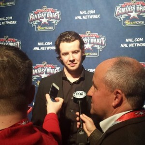 Despite being tied for ninth in the NHL in scoring, Ryan Johansen of the Columbus Blue Jackets was the NHL All-Star Fantasy Draft's top overall pick. (Credit: Andy Dudones/Staff)