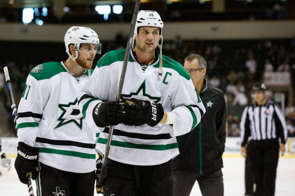 Dallas Stars forwards Tyler Seguin, and captain Jaime Benn are looking to get the Stars back in the playoffs next season.(Michael Connell/Texas Stars Hockey)