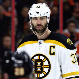 Trotman is looking at a sharp increase in ice time playing with Chara this season. (Amy Irvin / The Hockey Writers)