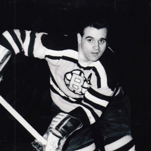 Leo Boivin is first Bruin so sign 65-66 contract.