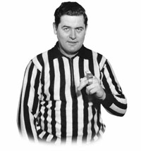 Linesman George Hayes has had his contract terminated by the NHL.