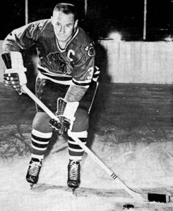 Pierre Pilote scored twice for Chicago in the first period.