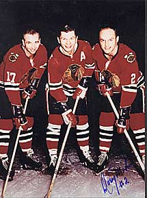 Chicago's line of Wharram, Mikita and Mohns dominated the Rangers