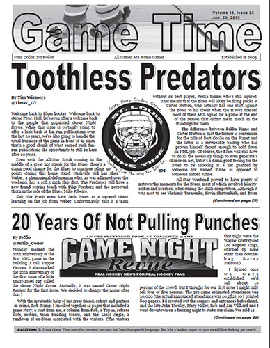 The official 20-year issue of St. Louis Game Time (Courtesy Brad Lee / St. Louis Game Time)