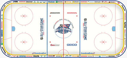 Rink Board Advertising at the 2015 ASG